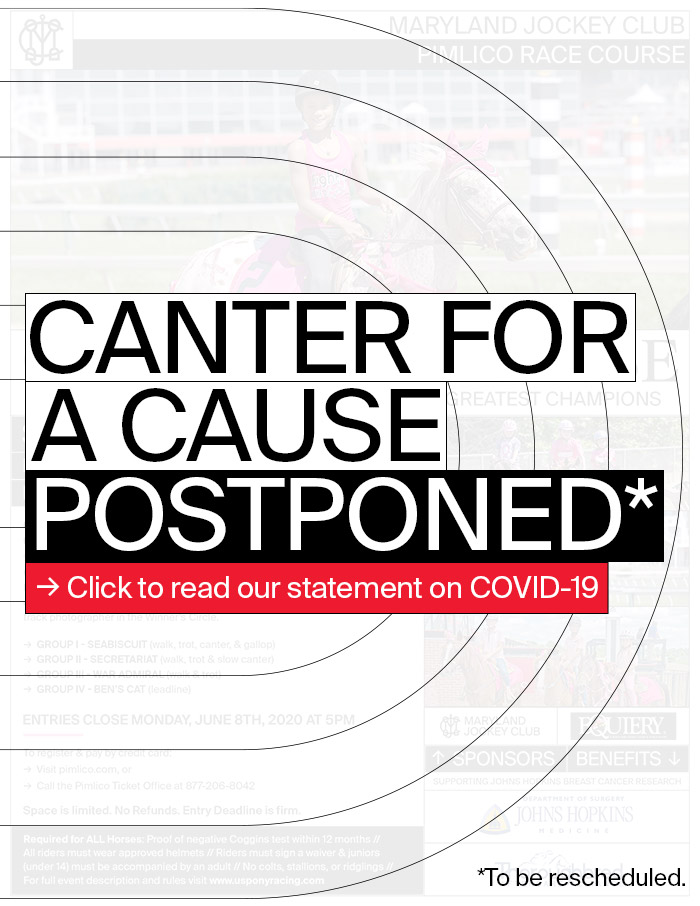 Canter for a Cause postoned. Click for our statement on COVID-19