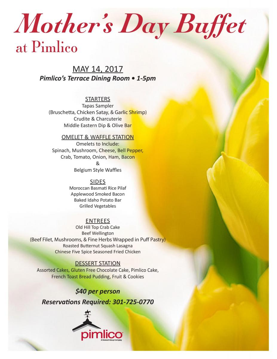 Mother\'s Day Buffet | Pimlico