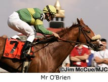 Mr O'Brien wining the 2004 Dixie Stakes (G2) at Pimlico on Preakness Day.