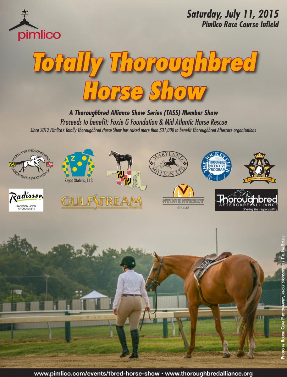 Pimlico Hosting Totally Thoroughbred Horse Show Saturday